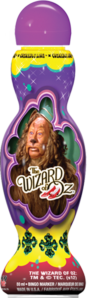 Cowardly Lion Wizard of Oz Bingo Ink